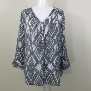 Fred David Long Sleeve Blouse Size M